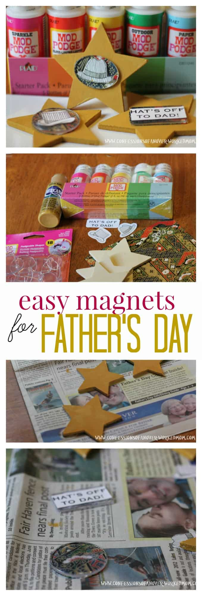 How to make your own magnets for Father's Day