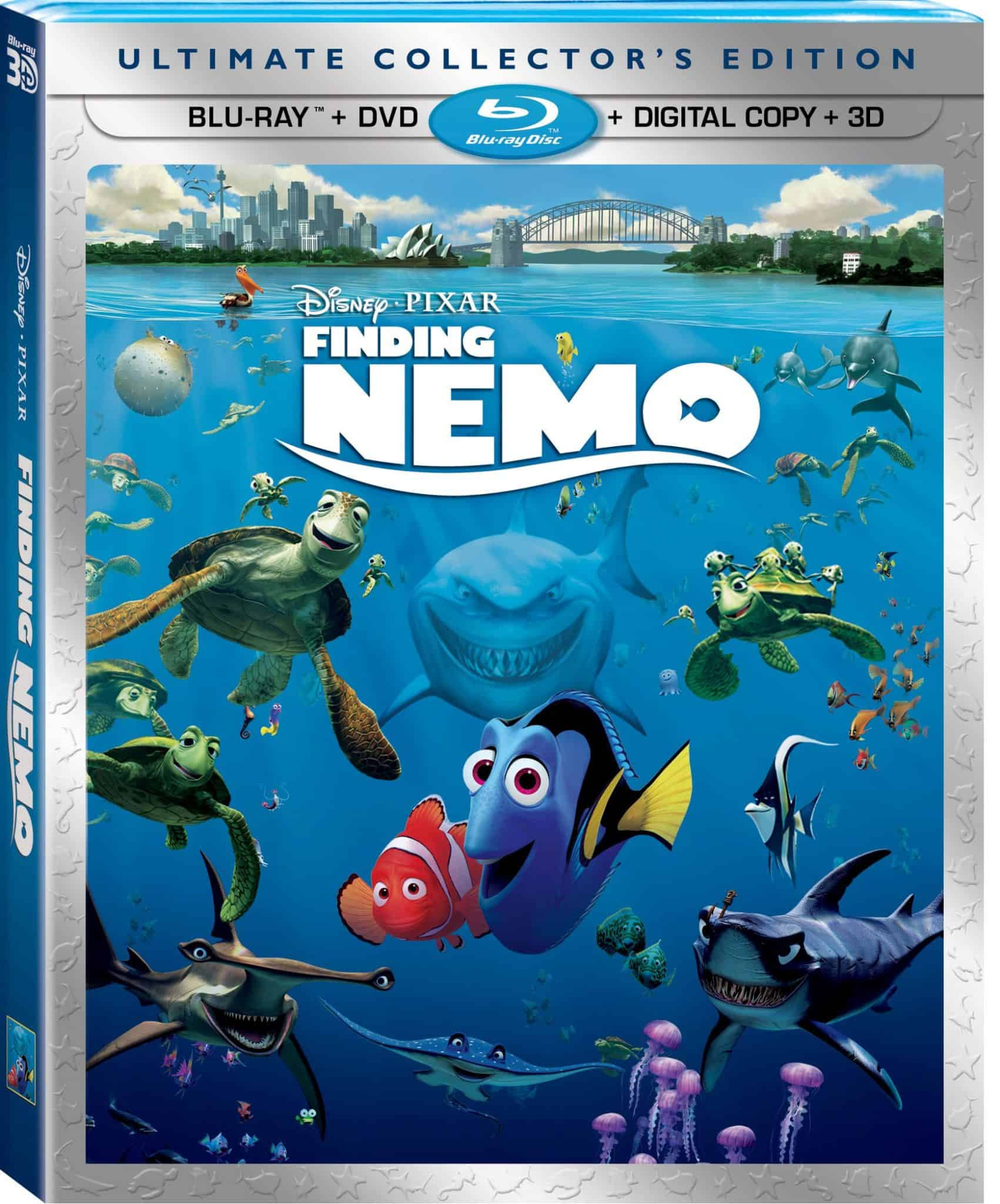 Animated family films finding nemo on blu ray 2d 3d digital