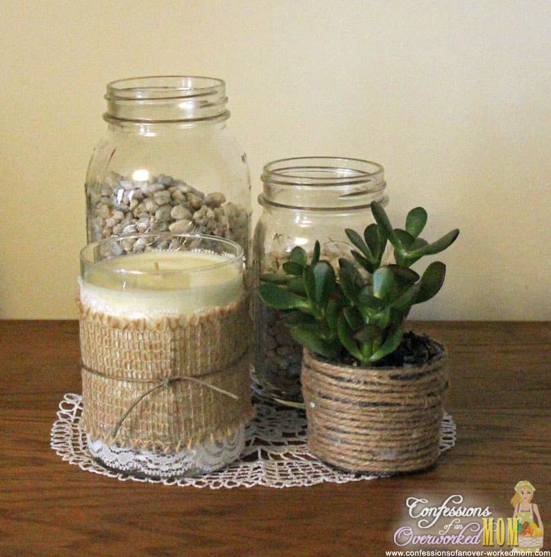 decorating with burlap make a centerpiece dtcasualelegance