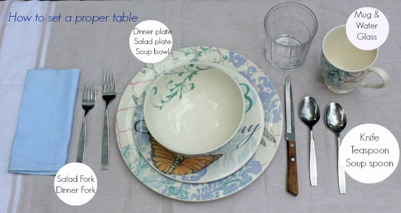 How To Set A Proper Table Sponsored