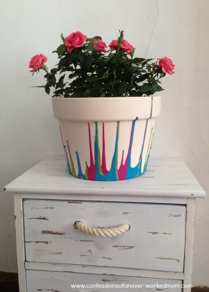 How to paint a ceramic flower pot
