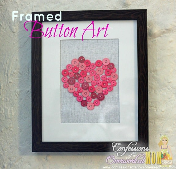 Simple home decorating ideas framed button art for Simple house decoration ideas