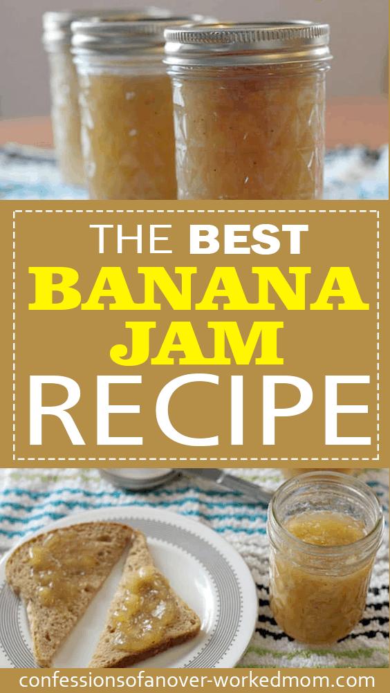 How To Make Banana Jam from Overripe Bananas