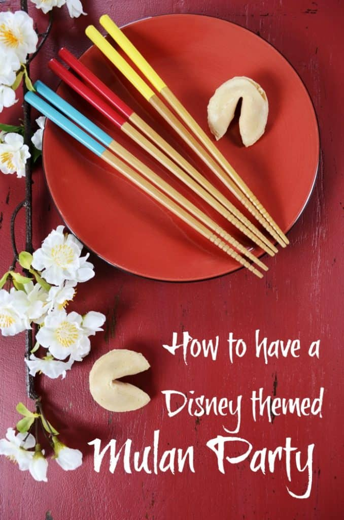 Disney Themed Party For Mulan with these Easy Party Ideas #partyideas #Mulan #disneyparty