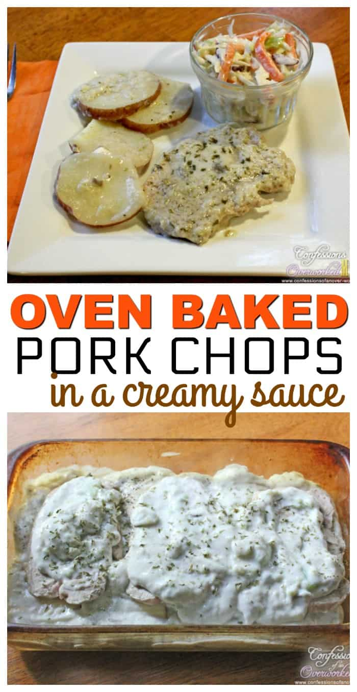Oven Baked Pork Chop Recipe with Sour Cream and Potatoes