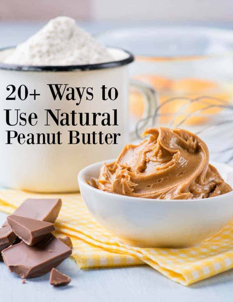 Ways to use natural peanut butter and natural peanut butter cookie recipe