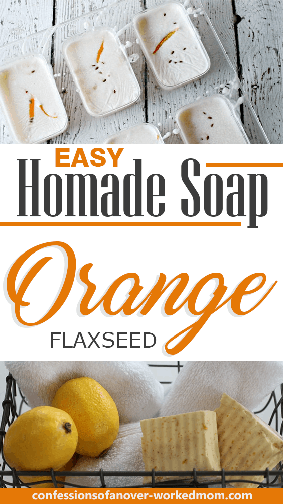 Flaxseed Soap With Orange is an Easy Soap Making Project