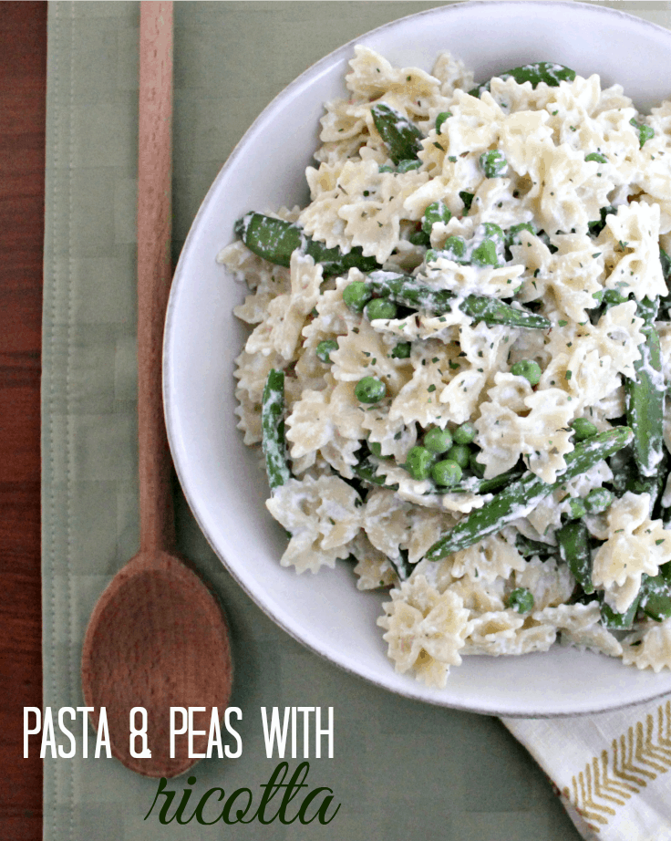 Easy meatless meals for Lent - Pasta with Peas & Ricotta #LentenRecipes
