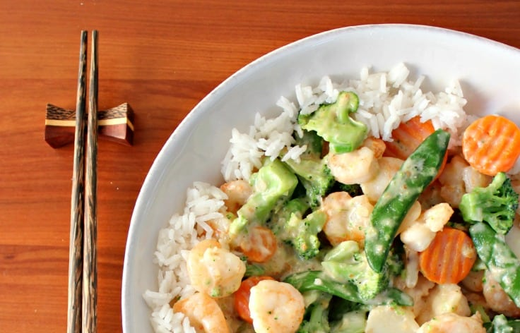 Easy Chinese Recipe: Shrimp in Coconut Milk Sauce
