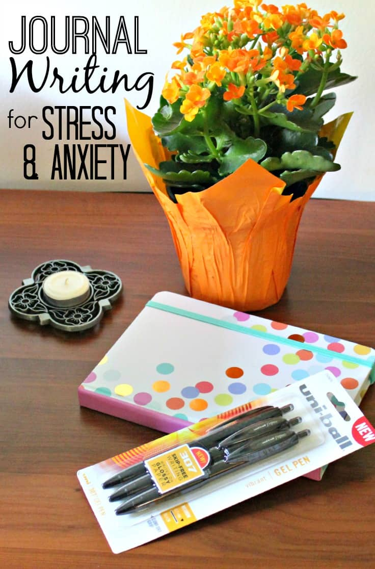 Journal writing for stress relief and anxiety