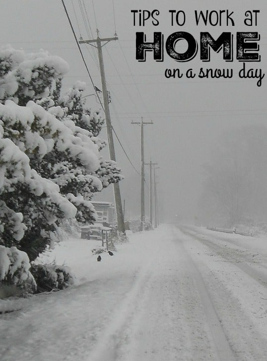 Working at home on a snow day - tips for productivity