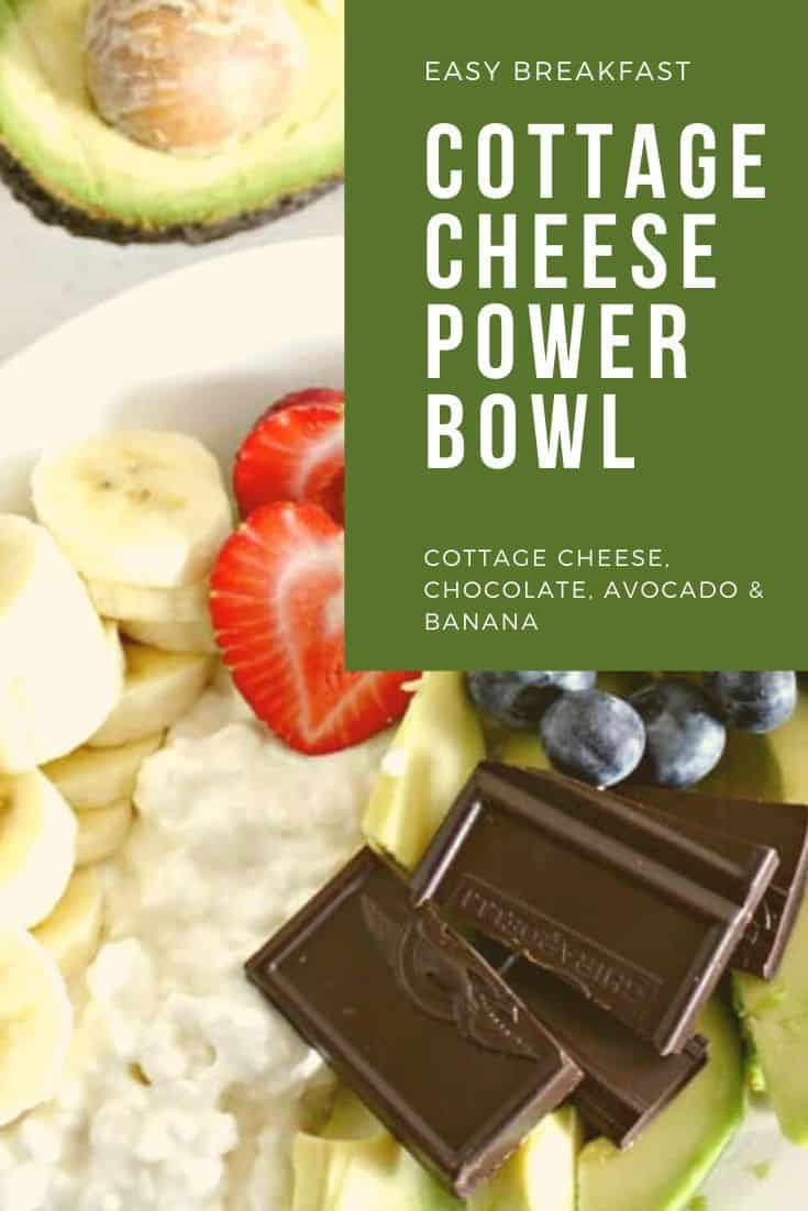 Cottage Cheese Power Bowl with Chocolate, Avocado and Banana