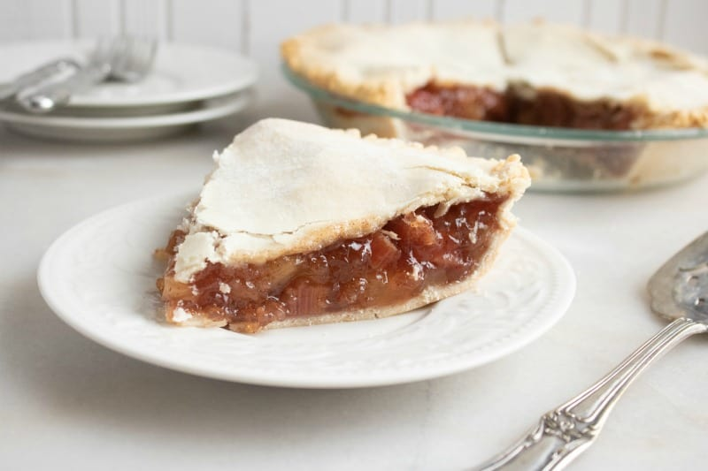 Apple Rhubarb Pie Recipe with Apple Pie Filling