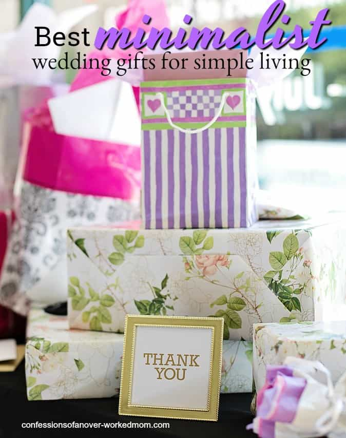 If you're looking for minimalist wedding gifts you're probably wondering how to choose something meaningful and useful.
